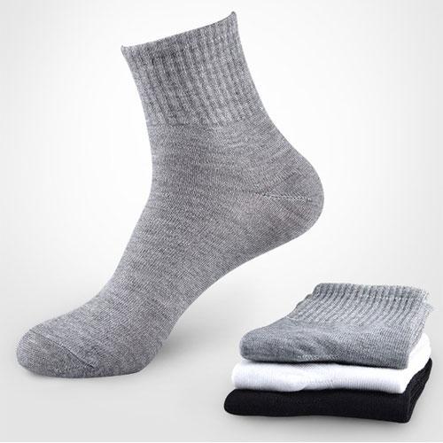 无商标纯色运动袜子 中邦中厚 大电脑 地摊袜子批发 可定做