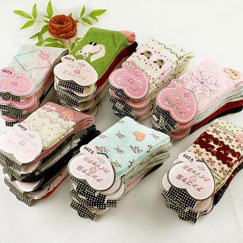 兔羊毛女袜 冬天加厚保暖韩国卡通可爱女士兔羊绒袜子 厂家批发