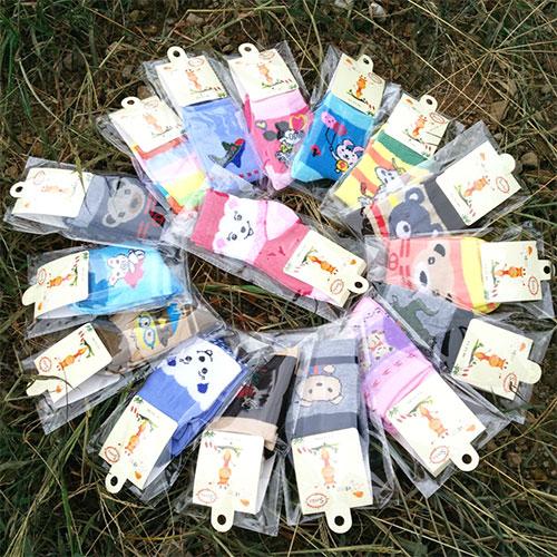 1-3岁男女儿童袜子批发 卡通可爱 棉袜 独立包装 秋冬款
