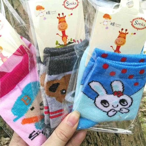 7-13岁男女儿童袜子批发 卡通可爱 棉袜 独立包装 秋冬款