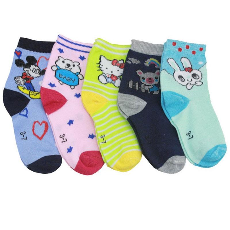 3-7岁儿童袜子 棉袜 卡通图案 秋冬款 中厚