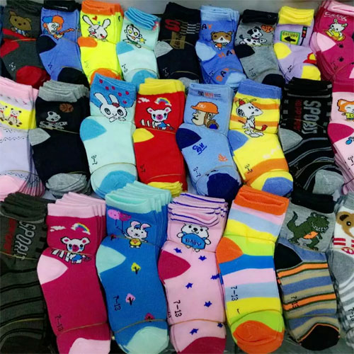 1-3岁儿童袜子 棉袜 卡通图案 秋冬款 中厚