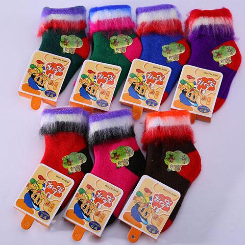 冬季儿童兔羊毛袜子宝宝袜 精品  加厚保暖 中邦中筒 厂家直销