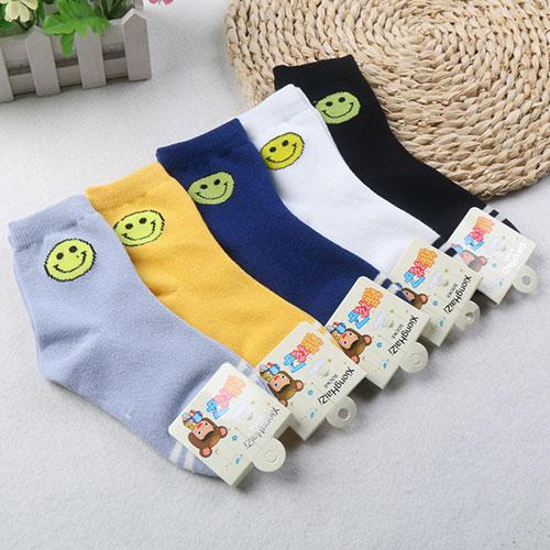 秋冬新款 儿童棉袜子 纯棉  可爱卡通笑脸 中邦 小学生运动袜批发