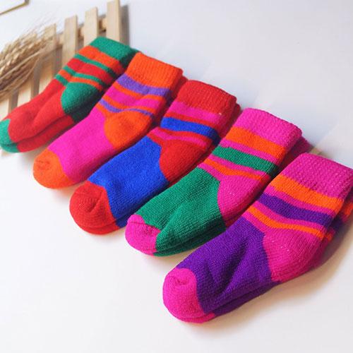 秋冬新款 儿童袜子拉毛袜毛巾袜 加厚保暖 毛圈 加毛加绒