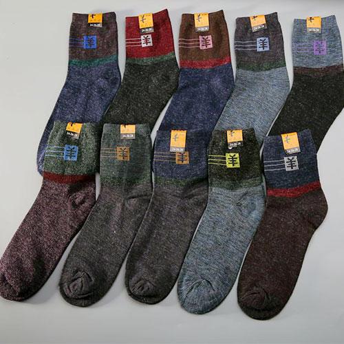 秋冬棉袜子批发 男士保暖 仿羊毛袜子 中厚