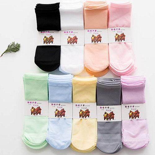 春夏新款儿童丝袜子 钢丝袜耐穿防钩丝短丝袜 糖果色