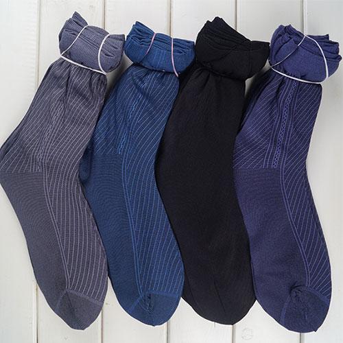 夏天薄款舒适耐穿 短丝袜 男士袜子 提花中筒条纹 地摊货源袜子