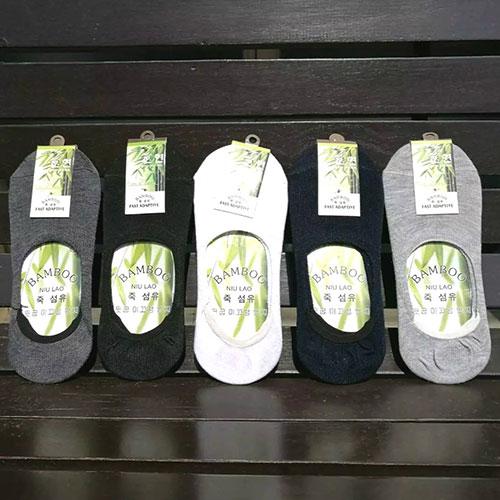 春夏男士隐形袜子 纯色袜 浅口防滑硅胶 棉质休闲 豆豆鞋专用
