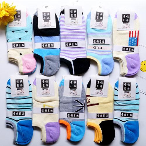 低价超值 女士船袜子批发 透气舒适彩棉 地摊夜市货源厂家直销