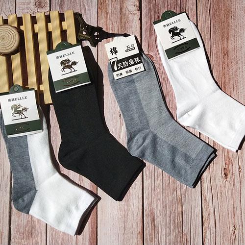 夏季男士棉袜子批发 网眼薄款 纯棉中筒袜商务休闲 地摊货源