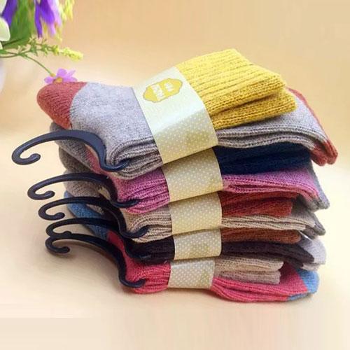冬季女士羊毛袜子 加厚保暖 高罗口毛线袜 精品