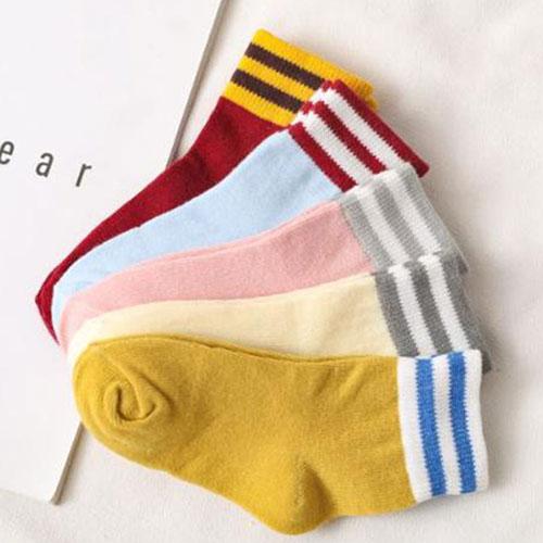 3-5-7-9-12岁秋冬条纹儿童棉袜子批发 韩版日系  男女学生袜