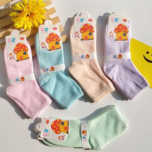 秋冬儿童棉袜子宝宝袜  糖果色  按摩底 舒适彩棉 地摊袜批发