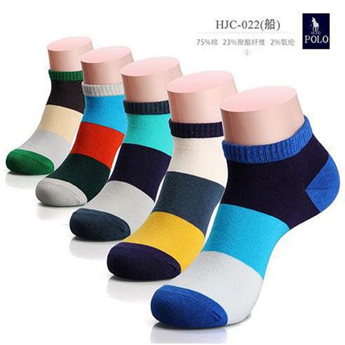 POLO男士时尚休闲船袜子 透气抗菌吸汗棉袜