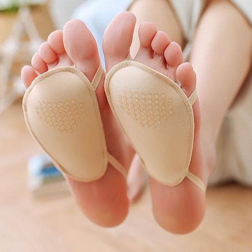 薄款 超浅口隐形半掌毛圈底加垫高跟鞋袜子