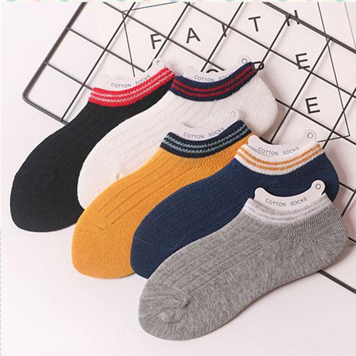 夏季 儿童卡通条纹 透气浅口隐形船袜子