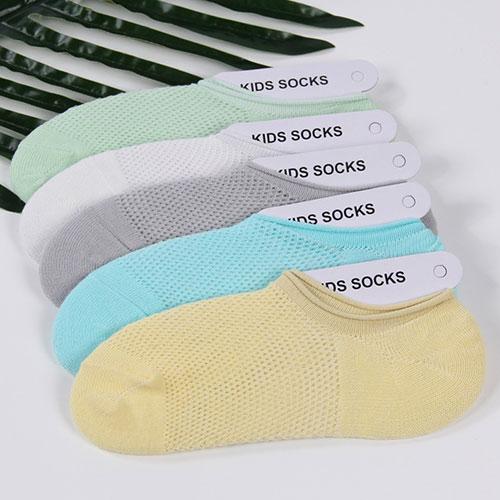 夏季超薄 卷边浅口透气防滑网眼儿童船袜子
