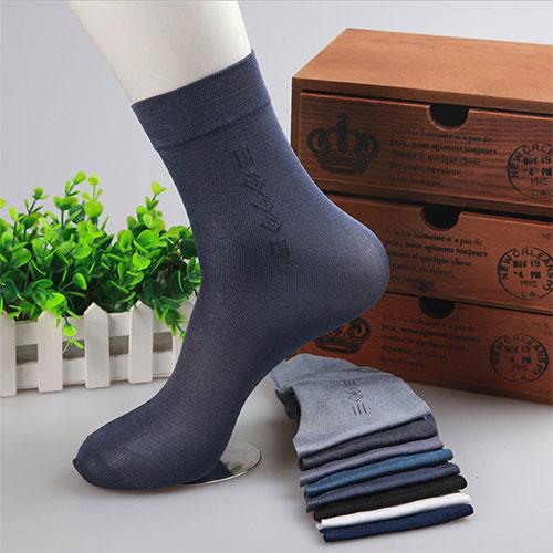 夏季男士 商务珍珠绒丝光冰凉 中筒短丝袜子