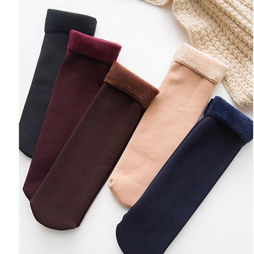 秋冬新款加绒加厚休闲家居地板袜雪地袜子