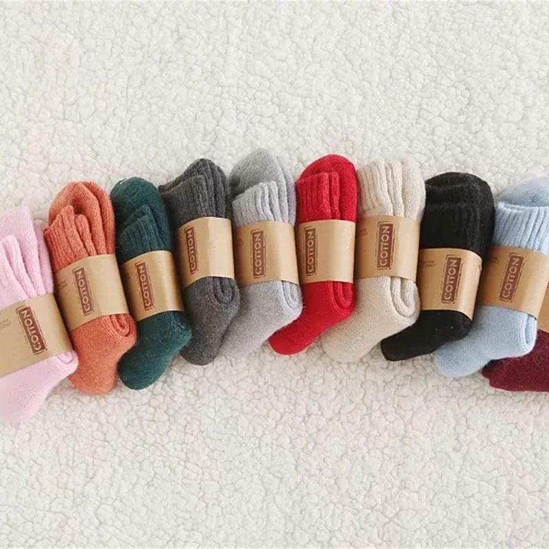 冬季新款 女士加厚保暖兔羊毛 柔软舒适毛圈袜子批发