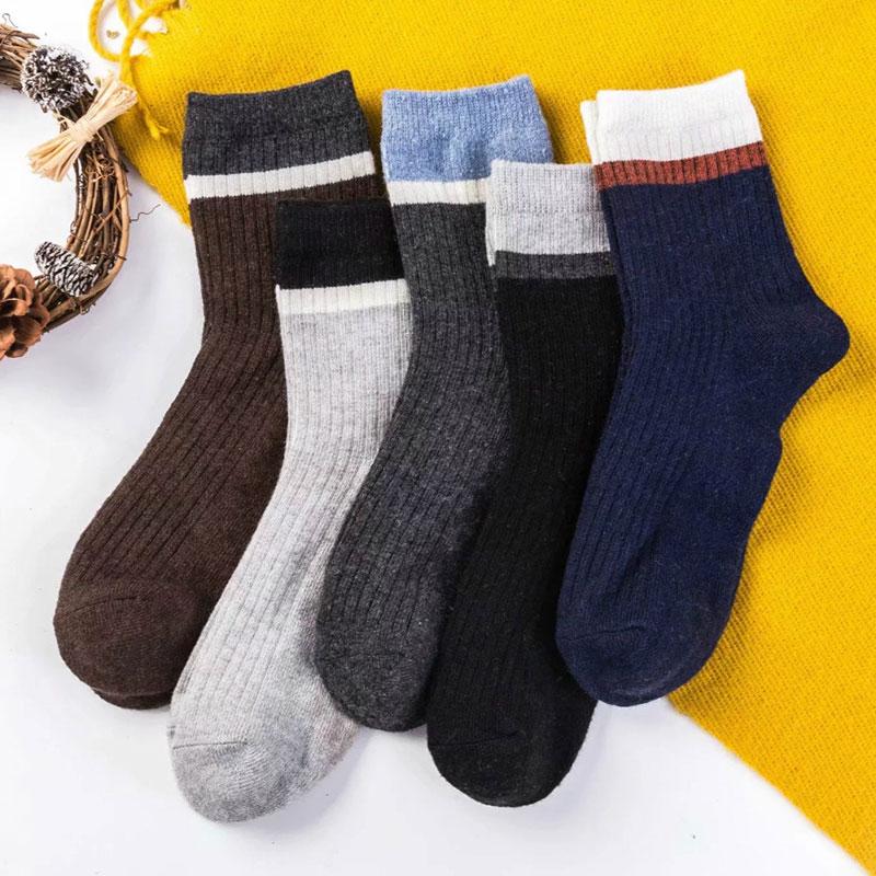冬季男士 加厚保暖 不勒脚宽罗口 兔羊毛袜子批发