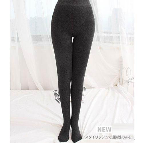 秋冬 女士条纹塑形保暖打底裤 微压显瘦加绒加厚一体裤袜