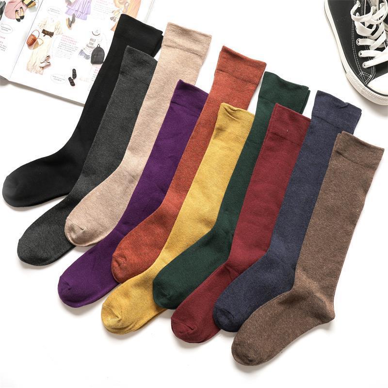 秋冬 女士时尚经典显瘦及膝袜小腿袜长筒袜子
