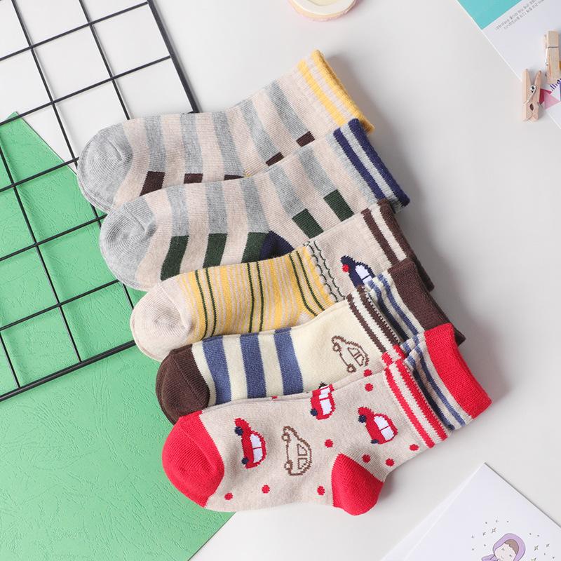 秋冬新款 儿童男女童 卡通小汽 时尚棉袜子