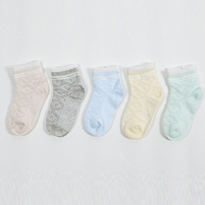 春夏 婴儿宝宝袜 菱形网眼透气  中筒儿童棉袜子批发
