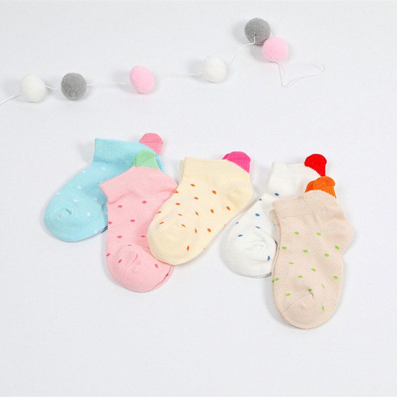 春夏儿童船袜子 立体爱心可爱 低帮船袜子批发