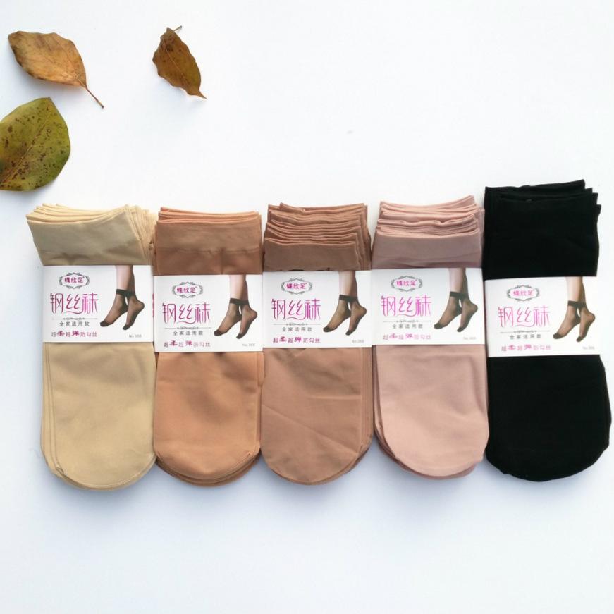 春夏新款 钢丝短丝袜批发 防勾丝 天鹅绒 女士丝袜短袜