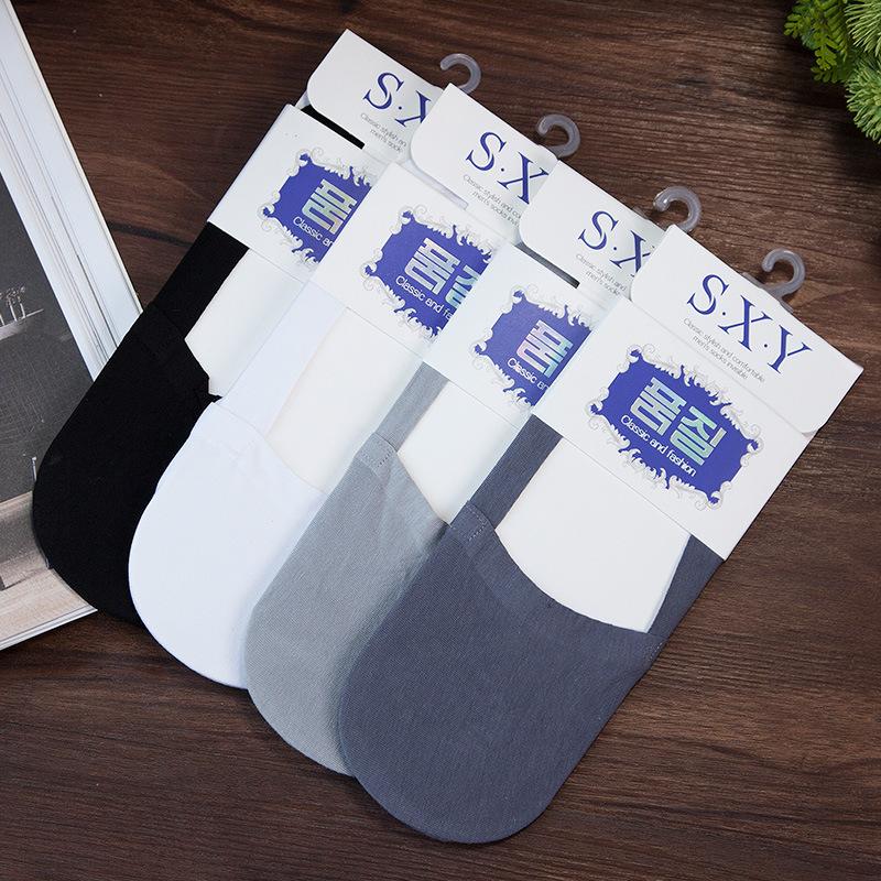 夏季新款 男士透气硅胶无痕隐形袜船袜子