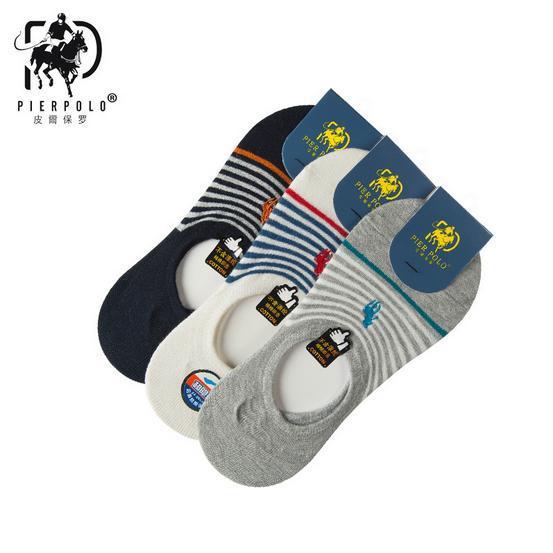 夏季POLO男士隐形袜 舒适吸汗浅口船袜子