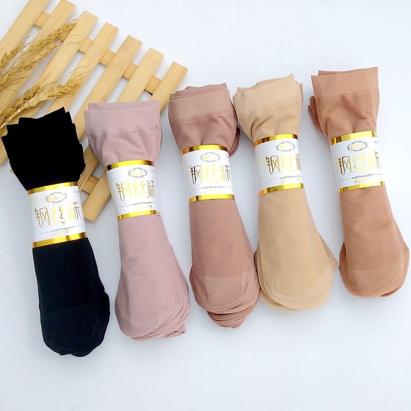 夏季女士防勾丝钢丝袜子批发 天鹅绒超弹超柔短丝袜