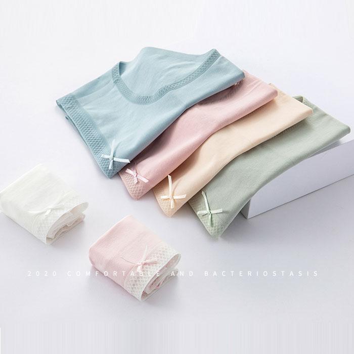 女士无痕纯棉裆舒适 性感蕾丝 三角裤内裤