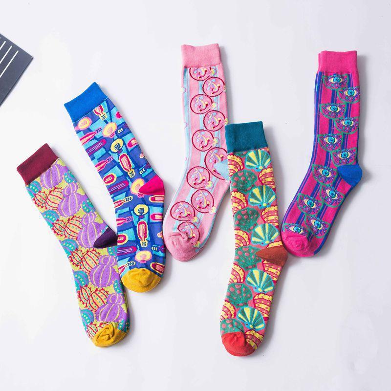 女士欧美时尚潮流高筒小腿袜 高邦运动袜子