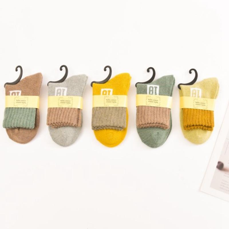 冬季 女士数字18中筒 加厚保暖 透气舒适 兔羊毛袜子