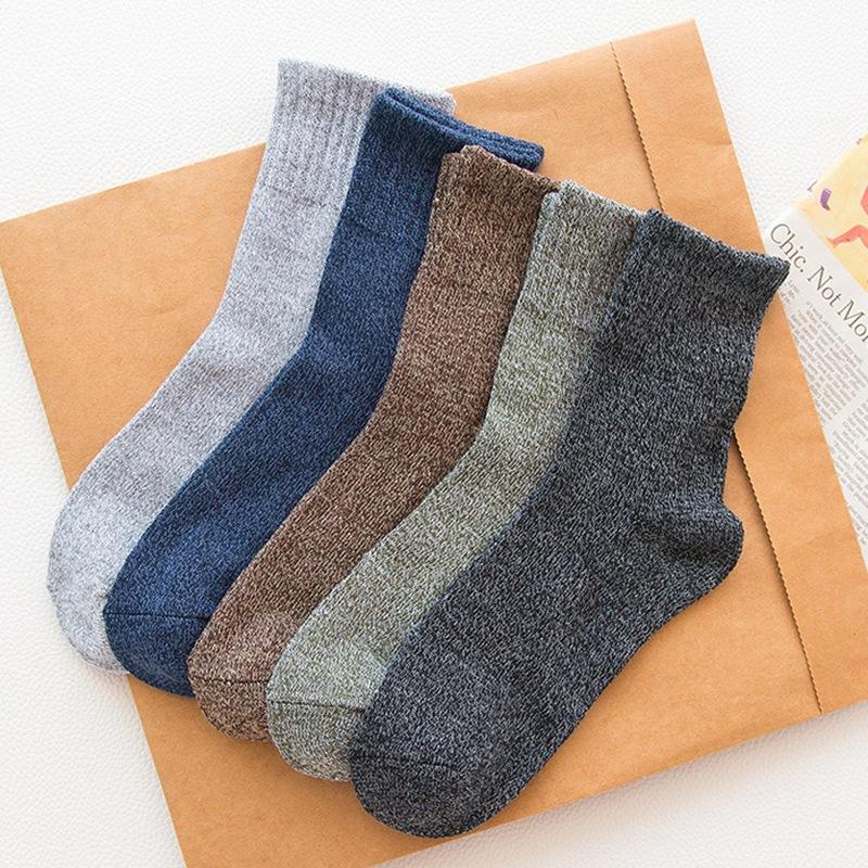 秋冬男士 加厚粗线 毛线袜 休闲保暖兔羊毛袜子批发