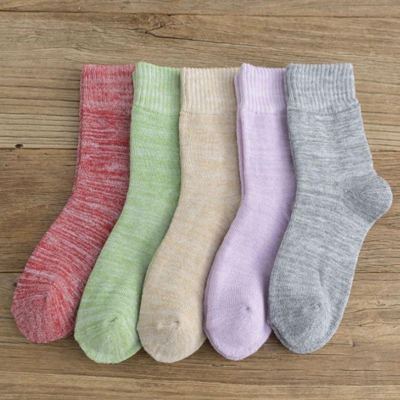 冬季 女士加厚保暖 并线日系 加绒毛圈袜子