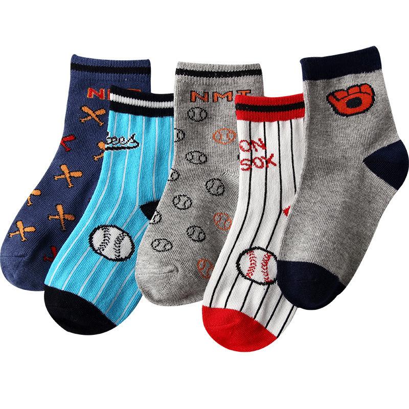 秋冬 儿童男女童 棒球运动袜 中筒棉袜子批发