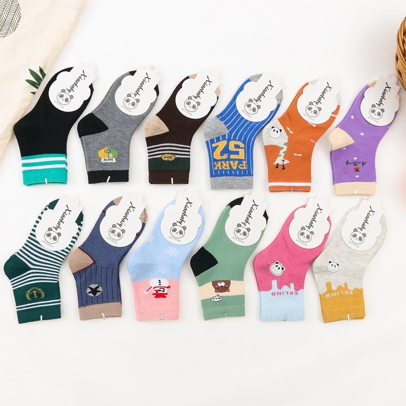 秋冬款1-14岁宝宝袜子 儿童棉袜子 可爱卡通  糖果色 童袜批发