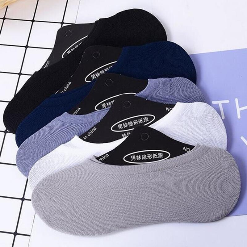 男士纯色硅胶防滑隐形船袜子批发 夏季纯棉浅口短袜子厂家批发