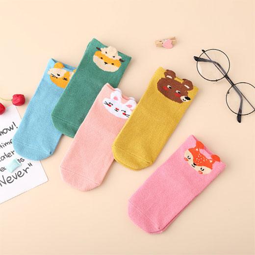秋冬新款 儿童袜子女孩中筒 卡通动物 可爱兔子棉袜子批发