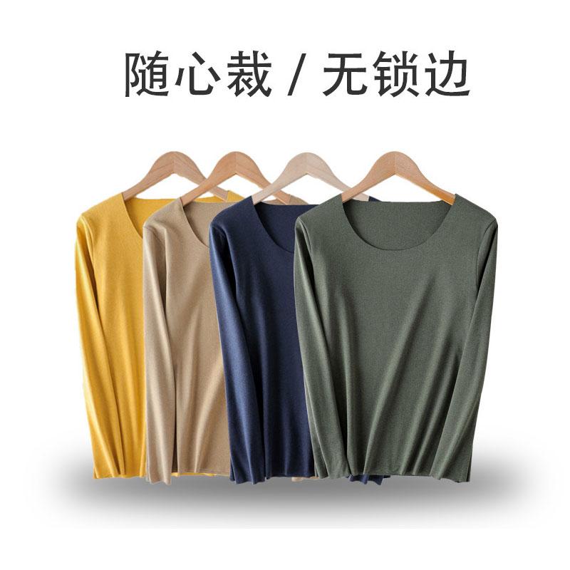 猫人秋冬女士恒温保暖时尚双面绒经典圆领保暖秋衣秋裤套装