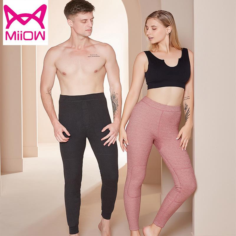 猫人男士女士 加厚加绒修身护膝 青年情侣保暖裤